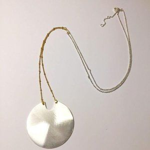 NWOT Handmade Silver Round Necklace
